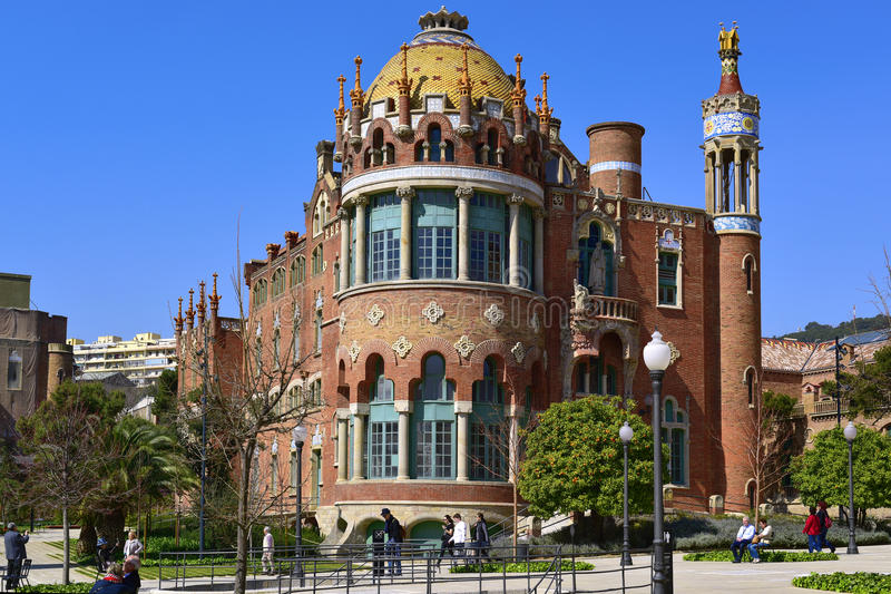 Hospital de Sant Πάου στη Βαρκελώνη, Ισπανία στοκ φωτογραφίες με δικαίωμα ελεύθερης χρήσης