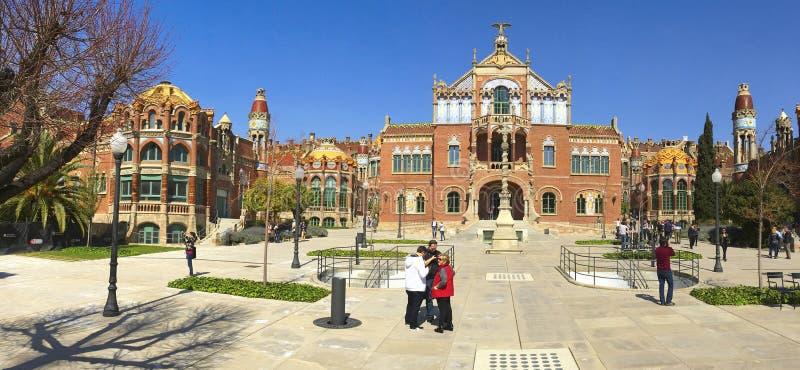 Hospital de Sant Πάου στη Βαρκελώνη, Ισπανία στοκ εικόνα