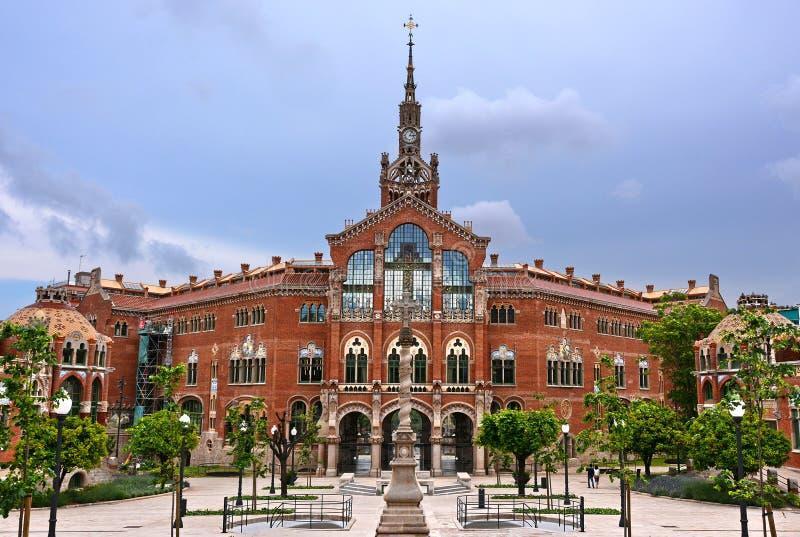 Barcelona Spain. View Hospital de Sant Pau in Barcelona, Spain royalty free stock image