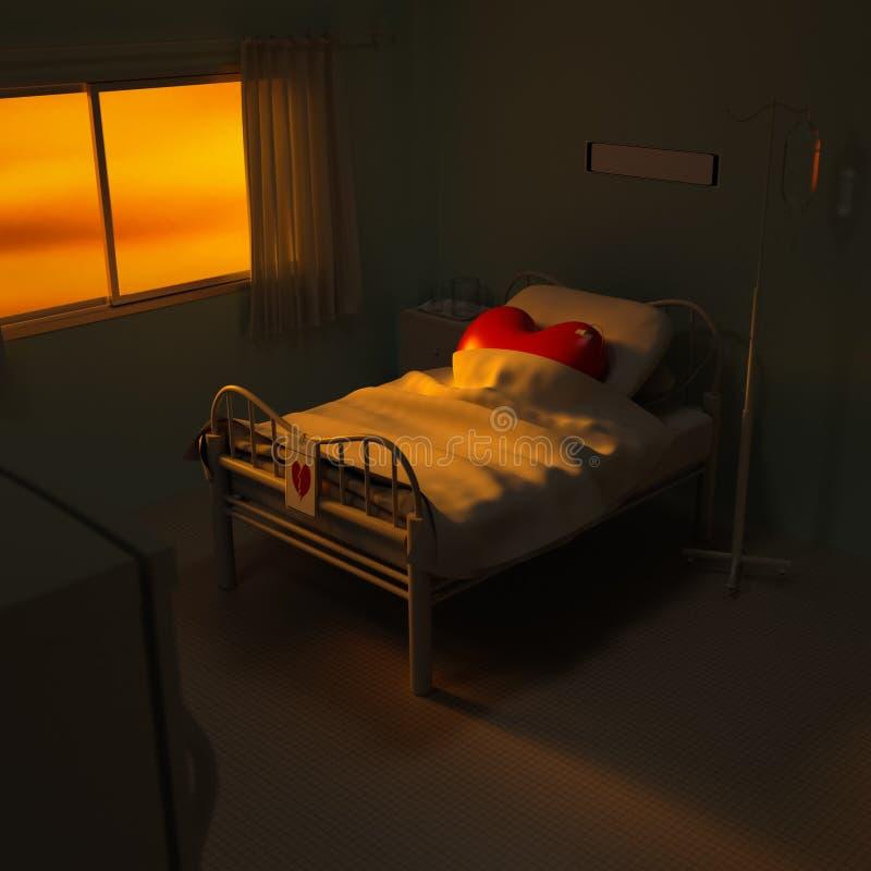 hospital del corazón 3d ilustración del vector