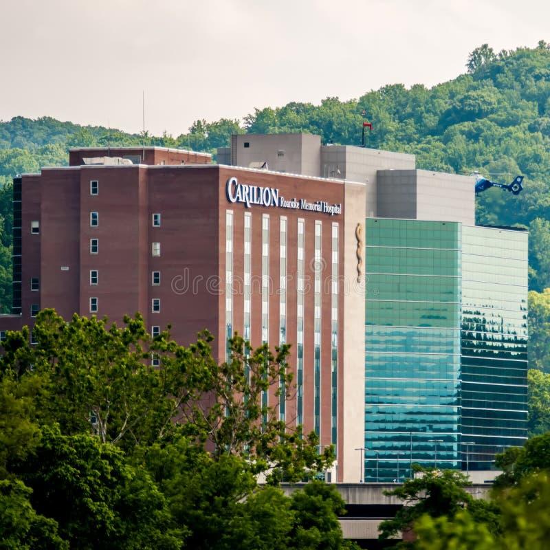 Hospital del monumento de Roanoke imagen de archivo libre de regalías