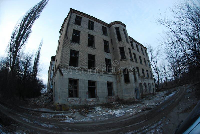 Hospital destruído fotografia de stock royalty free