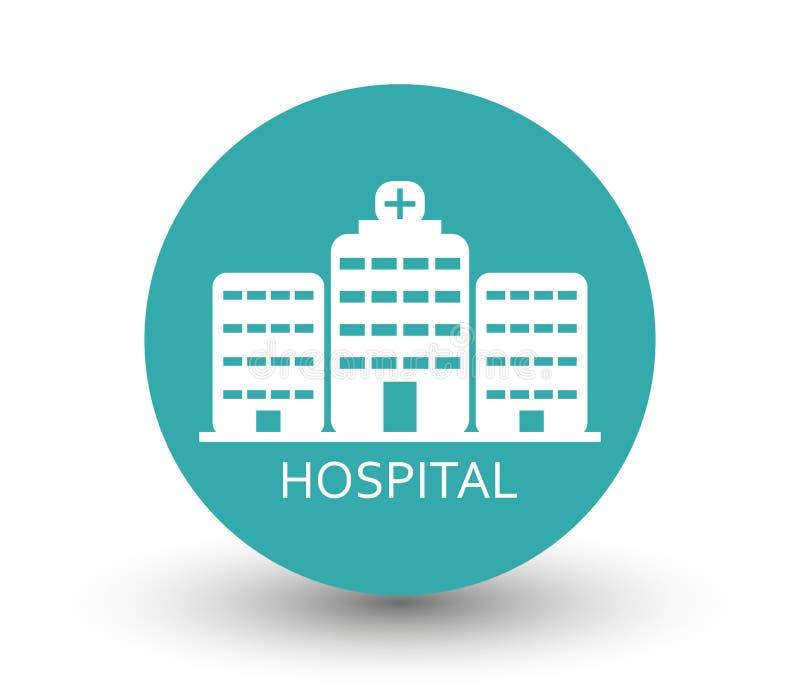 Download Hospital do ícone ilustração stock. Ilustração de fundo - 80100110