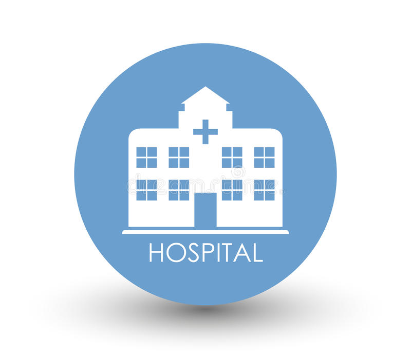 Download Hospital do ícone ilustração stock. Ilustração de ilustração - 80100425