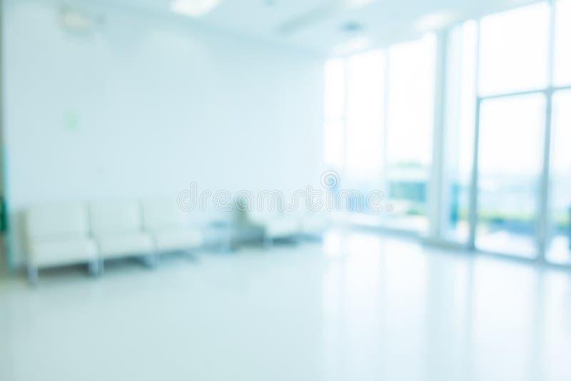 Hospital do borrão e interior abstratos da clínica imagens de stock
