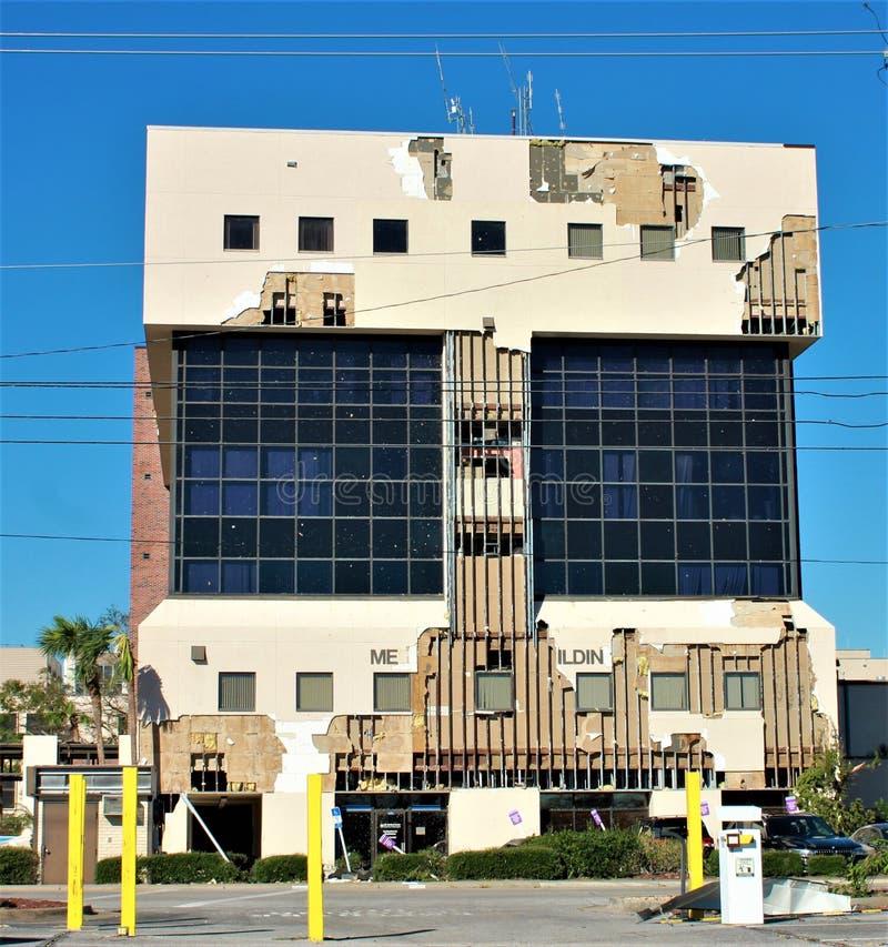 Hospital do dilúvio do furacão do furacão da chuva de dano da tempestade da inundação imagem de stock royalty free
