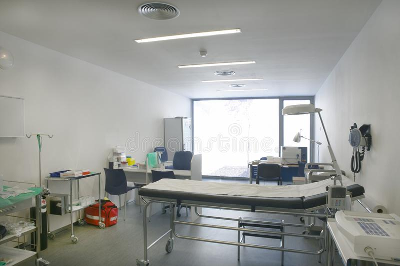 Hospital doctor consulting room. Healthcare equipment. Medical e royalty free stock image