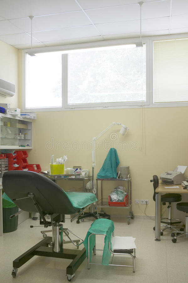 Hospital doctor room with equipment. Indoor royalty free stock photo