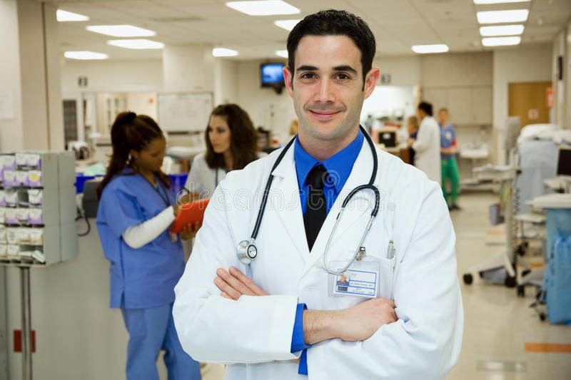 Hospital: Emergency Room Doctor Stock Image - Image of health ...