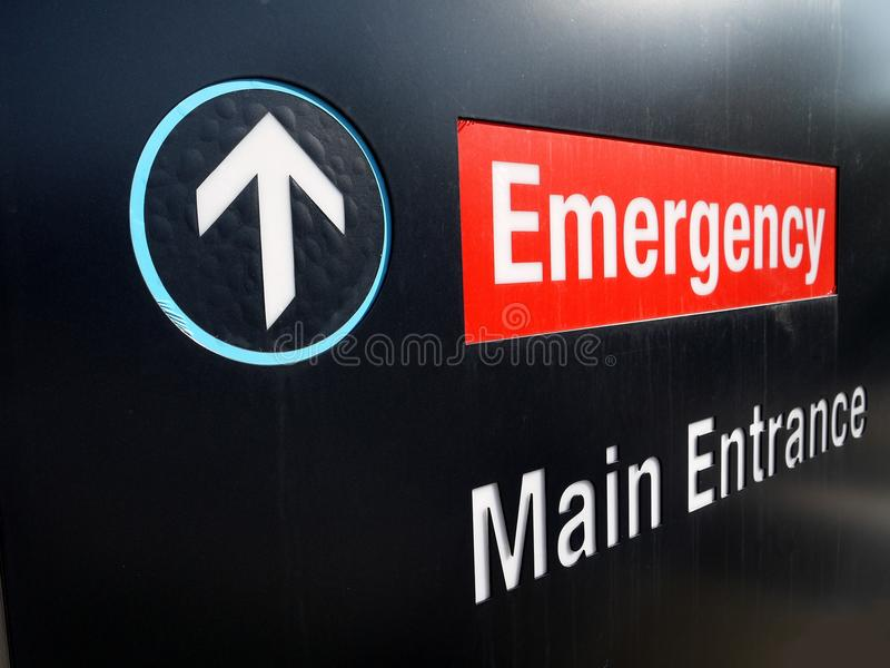 Download Hospital: emergency sign stock photo. Image of font, graphic - 21341612