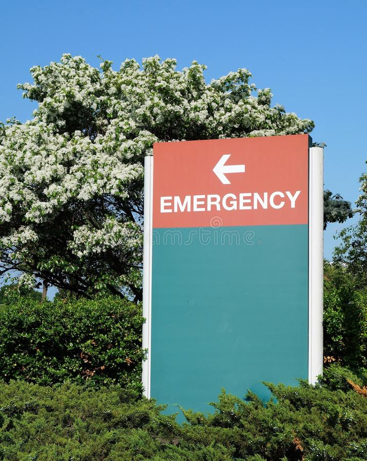 Hospital Emergency Sign royalty free stock photos