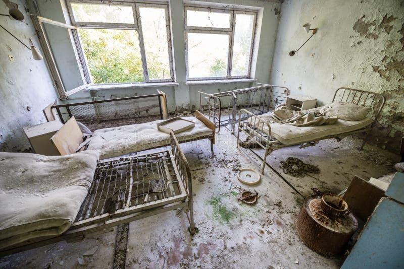Hospital en Pripyat fotografía de archivo