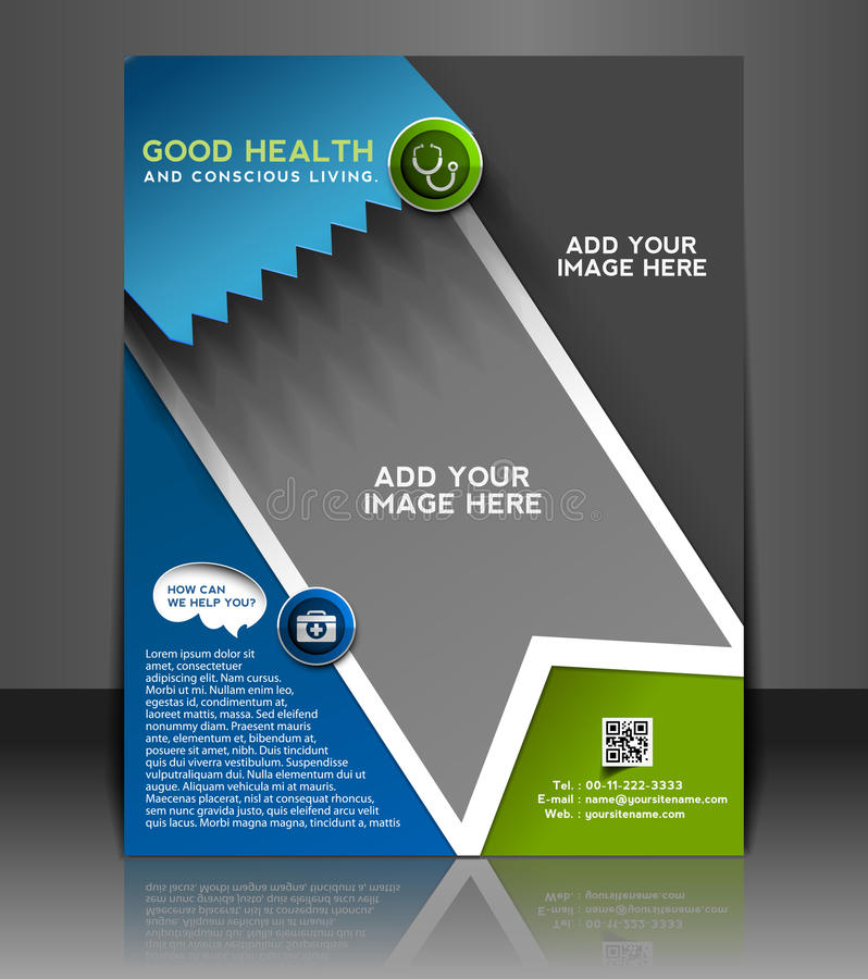Hospital Flyer Design Stock Vector Illustration Of Health