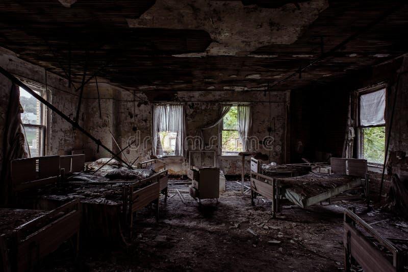 Hospital Geral de Brownsville - Brownsville, Pensilvânia fotografia de stock