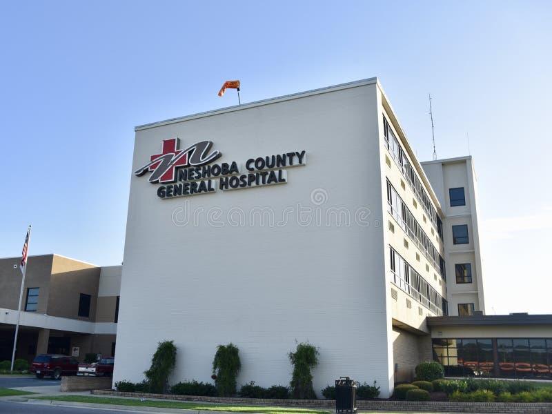 Hospital Geral de Neshoba County, Philadelphfia, MS imagens de stock royalty free