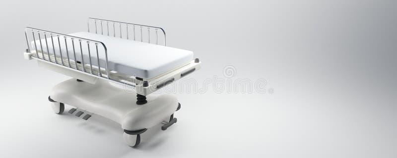 Hospital gurney vector illustration