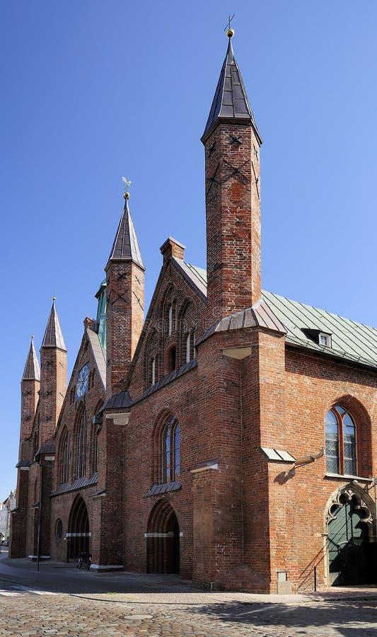 Hospital of the Holy Spirit, Lubeck, Germany. Holy Spirit (Heilig Geist) Hospital in Lubeck. Germany stock photo