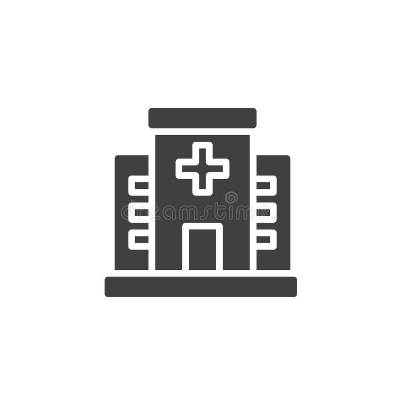 Hospital icon vector royalty free illustration