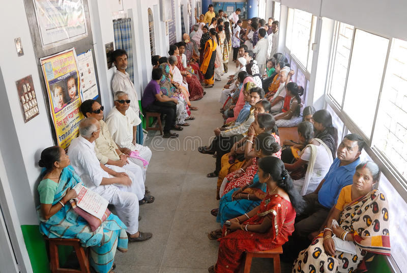 Hospital indiano foto de stock