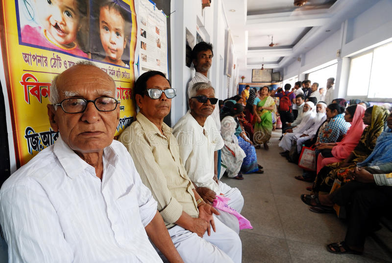 Hospital indiano imagens de stock