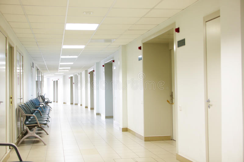 Hospital interior stock photo