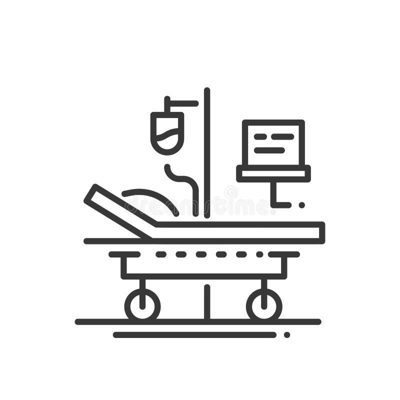 Hospital - linha único ícone isolado do projeto ilustração royalty free