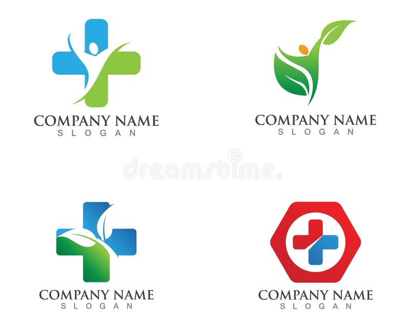 Hospital logo and symbols template icons.  royalty free illustration