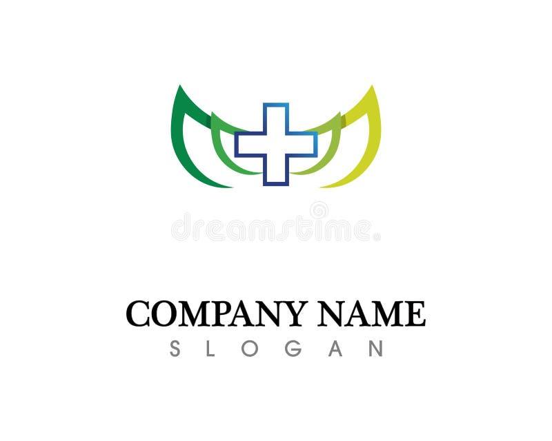 Hospital logo and symbols template icons app royalty free illustration
