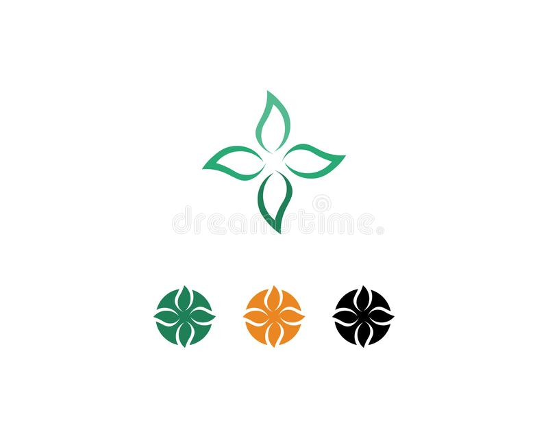 Hospital logo and symbols template icons app. Abstract, alliance, business, button, circle, color, company, computer, concept, connect, corporate, cycle royalty free illustration