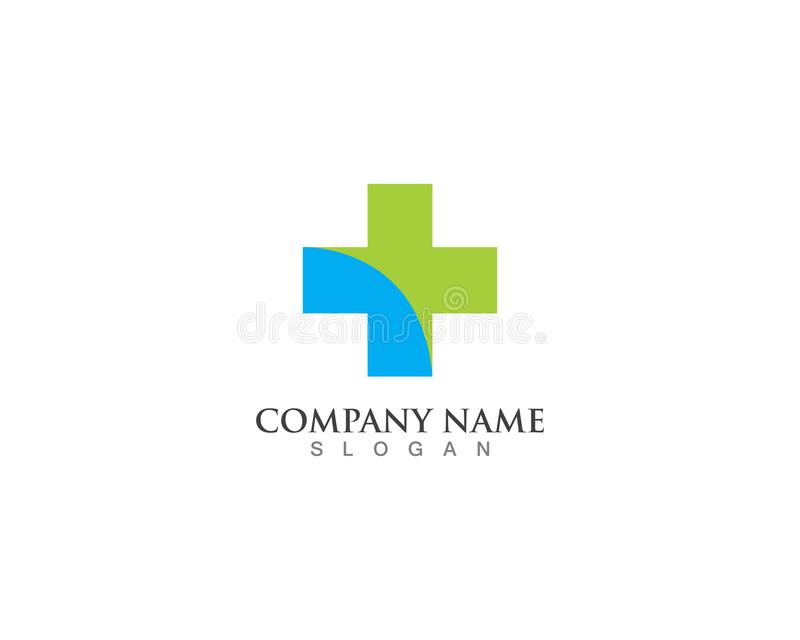 Hospital logo and symbols template icons vector health royalty free illustration