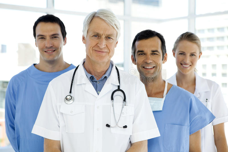 Hospital medical team royalty free stock photos
