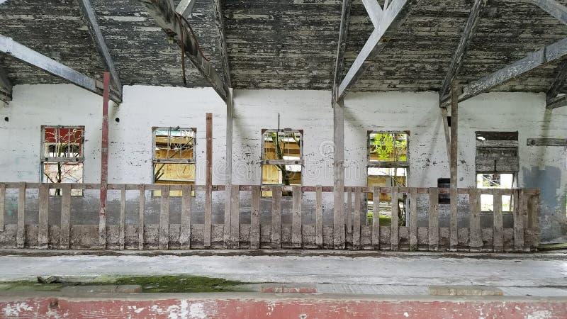 Hospital mental del estado septentrional del granero de lechería imagen de archivo