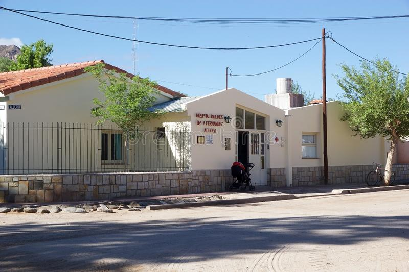 Hospital at Molinos town stock image