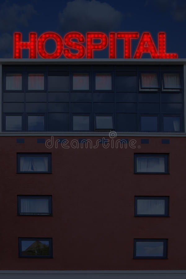 Hospital At Night Stock Images