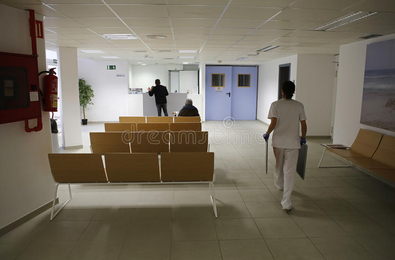 Hospital reception area 4. Reception and waiting room on a public hospital in the Spanish island of Majorca royalty free stock photography