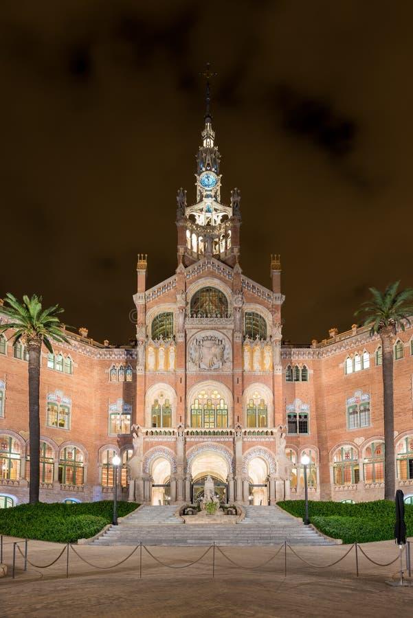 Hospital Sant Pau Recinte Modernista - Barcelona, Espanha imagem de stock