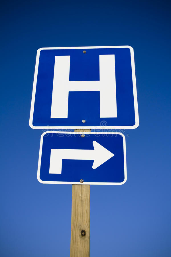 Hospital sign stock photography