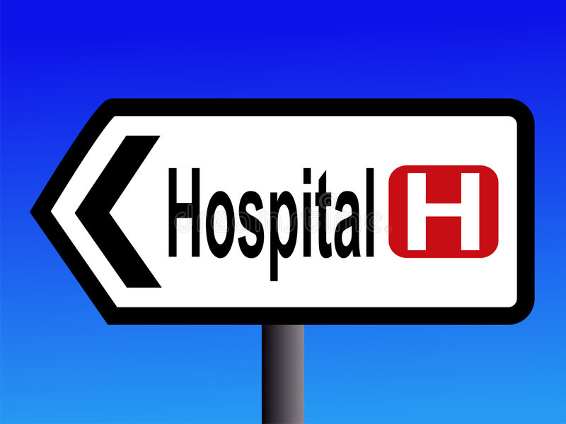 Hospital sign royalty free illustration