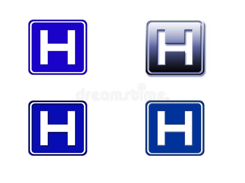 Download Hospital Sign stock illustration. Image of treatment, blue - 3471181