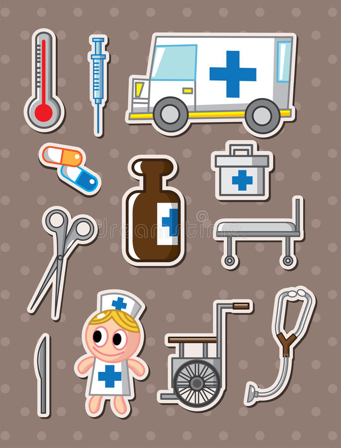 Free Hospital Stickers Royalty Free Stock Photography - 25489457