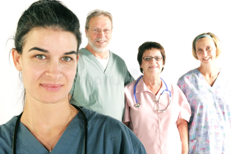 Hospital team royalty free stock images