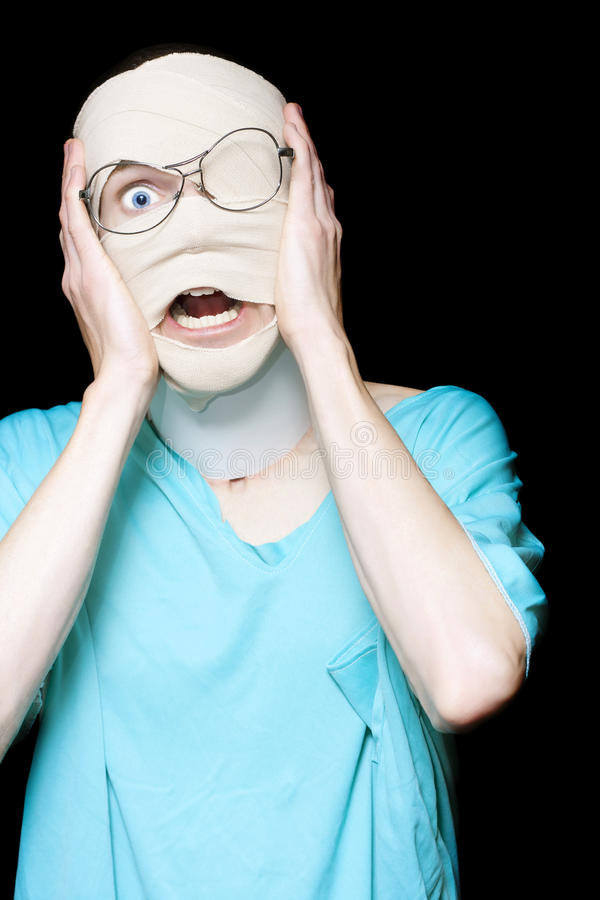 Download Hospital Trauma Patient Screaming In Terror Stock Image - Image of concussion, anguished: 26824725