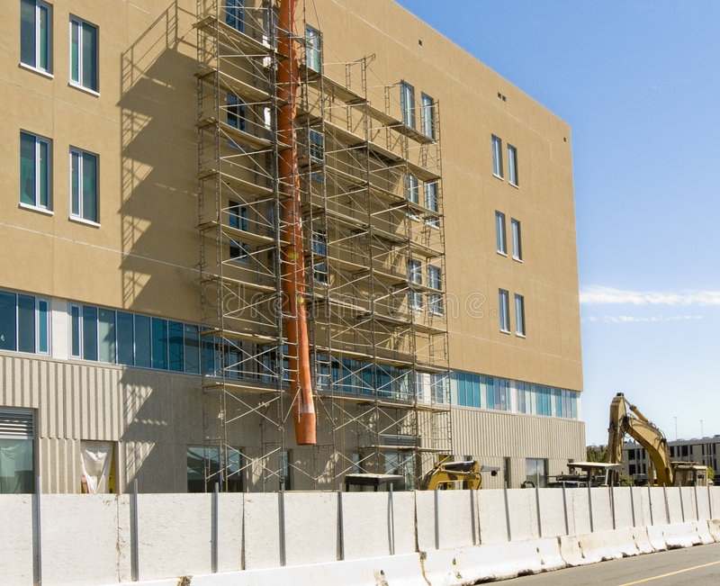 Hospital under construction royalty free stock images