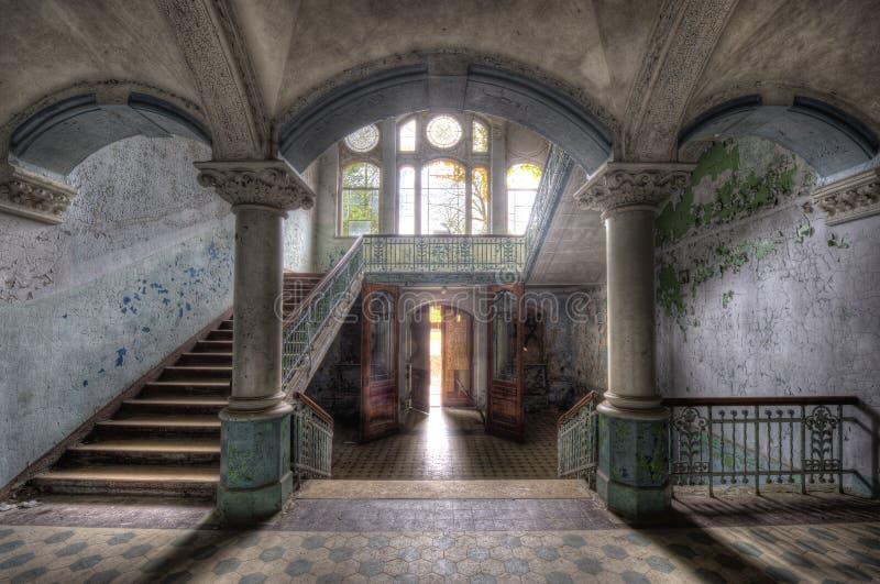 Hospital viejo en Beelitz imagen de archivo libre de regalías