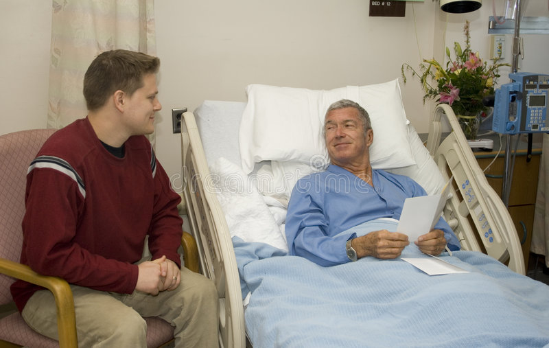 Hospital Visitation stock photography