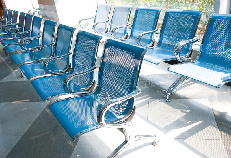 Hospital waiting room. With empty chairs stock photos