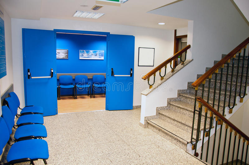 Hospital waiting room. And the stairs royalty free stock images