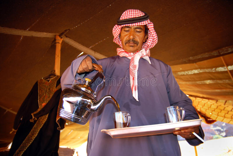 Hospitalidad beduina fotos de archivo libres de regalías