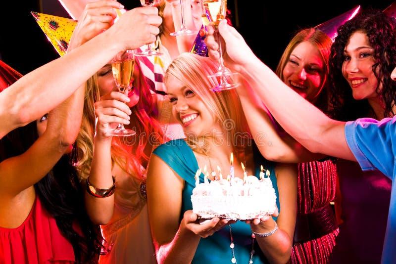 Hospitalidad del cumpleaños fotos de archivo