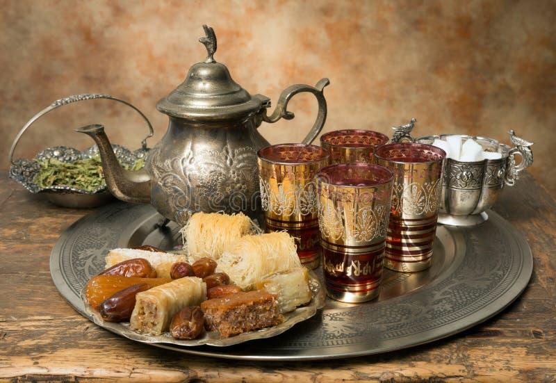 Hospitalidade marroquina imagem de stock